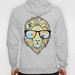 Stylish Lion Design with Moroccan Leather background Hoody