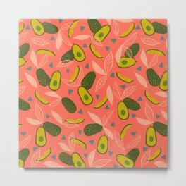 90s Style Avocado Metal Print