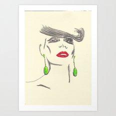 Pout&Quiff Art Print