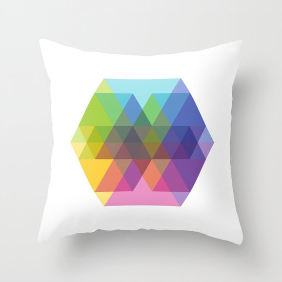 Fig. 040 Hexagon Shapes Throw Pillow