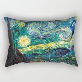 Tardis Art Starry Painting Night Rectangular Pillow
