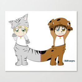 Cat-Dog Canvas Print