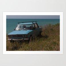 Car on the Coast Art Print