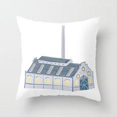 Little Factory Throw Pillow