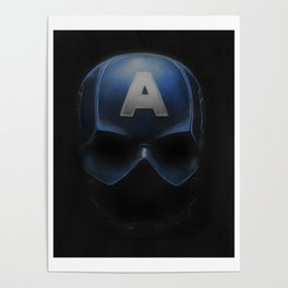 Capt America - Cowl Portrait Poster