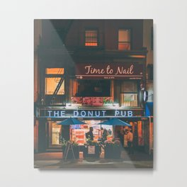 The Donut Pub Metal Print