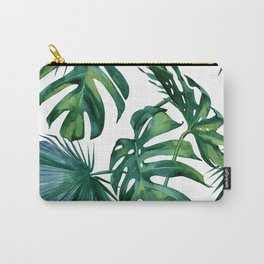 Classic Palm Leaves Tropical Jungle Green Carry-All Pouch