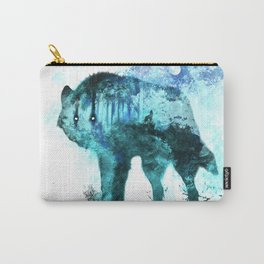 Double Exposure Wolf / Full Moon Wolves / Dark Forest Witch / Galaxy Space Wolf Carry-All Pouch