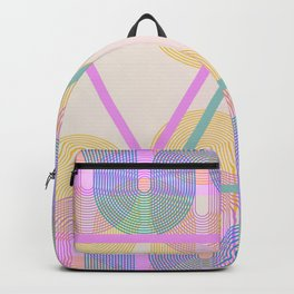 Malibu Triangles - Happy Retro Vintage Neon Backpack