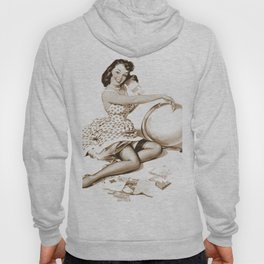 Out of This World by Gil Elvgren Pin Up Girl Hoody