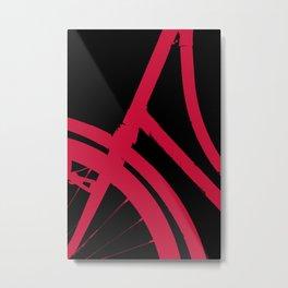 The Red Bike Metal Print