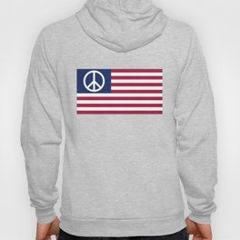 Peace and Love USA Flag Hoody