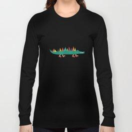 Crocodile Colorful Long Sleeve T-shirt