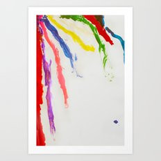 Rainbow of color Art Print