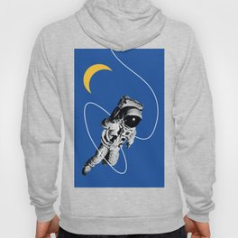 Astronaut Floating in Blue Space Hoody
