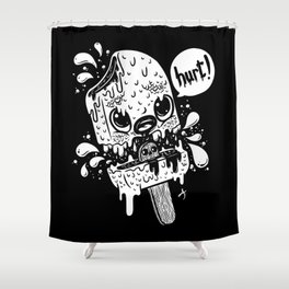 Ice cream hurt white Shower Curtain