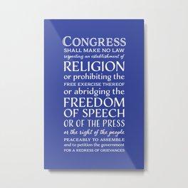First Amendment Rights Metal Print