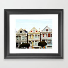 Painted Ladies Framed Art Print