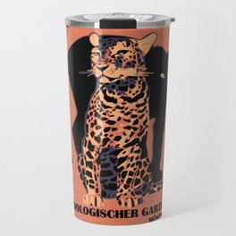 Retro vintage Munich Zoo big cats Travel Mug