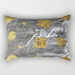 Gold Leaf on Marble Rectangular Pillow