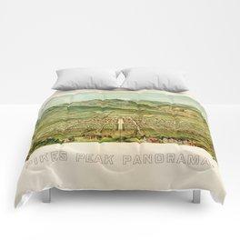 Pikes Peak Panorama, Colorado Springs, Colorado (1890) Comforters