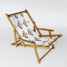 Painted Argyle Sling Chair