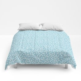 Cute Baby Blue and White Polka Dot Pattern Comforters