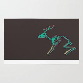 Deer Skeleton - Green Rug