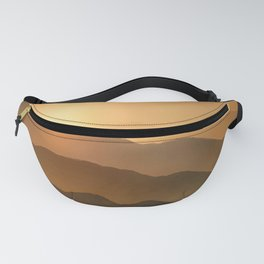 Sunrise in the mountains - beautiful morning - #Society6 #buyart Fanny Pack
