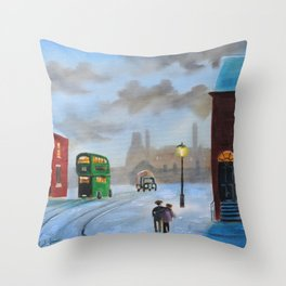 Little brothers Throw Pillow
