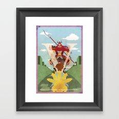 Vintage FF Poster V Framed Art Print