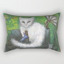 Temple of the Cat Rectangular Pillow