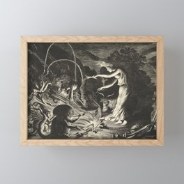 Witch - 17th Century Illustration Framed Mini Art Print