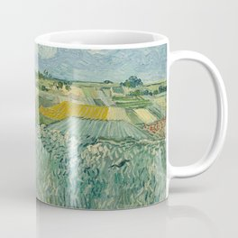 Plain at Auvers with rain clouds Coffee Mug