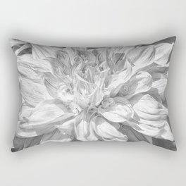 Marbled Dahlia, No. 1 bw Rectangular Pillow