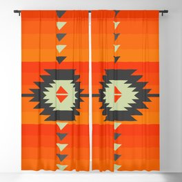 Southwestern in orange and red Blackout Curtain