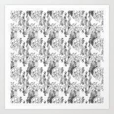 Jamaican Botanicals - Black & White Art Print