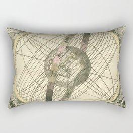 Antique World Zodiac Sign Rectangular Pillow