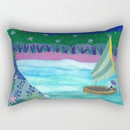 Sailing by Tropical Islands Rectangular Pillow