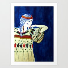 Indian Girl Art Print