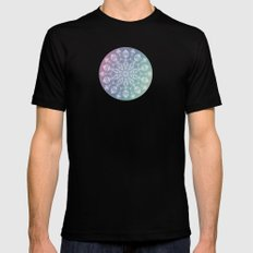 Jellyfish mandala MEDIUM Mens Fitted Tee Black