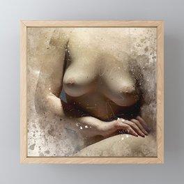 Delicate Woman Framed Mini Art Print