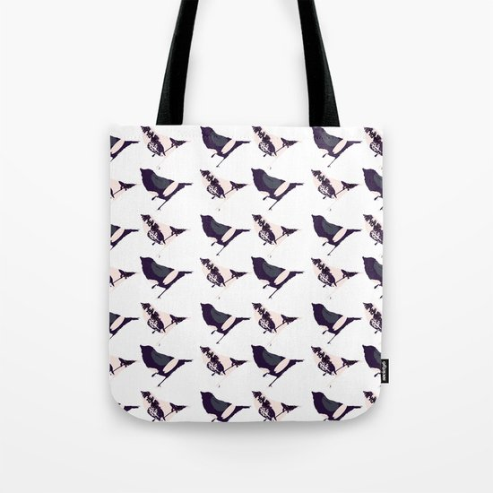 Pink and Purple Birds Tote Bag