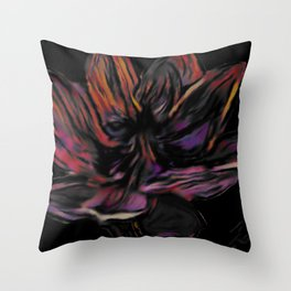 Lotus Night Throw Pillow