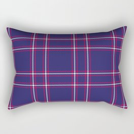 Big Blue Plaid Rectangular Pillow
