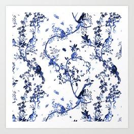 Monkey World Jouy Art Print