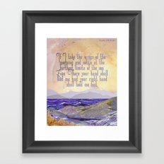 Wings Of The Morning Framed Art Print