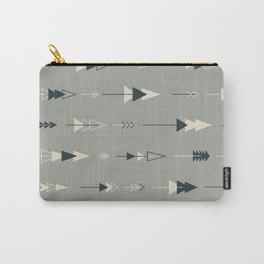 Forest Ready trees & arrows pattern (gray) Carry-All Pouch