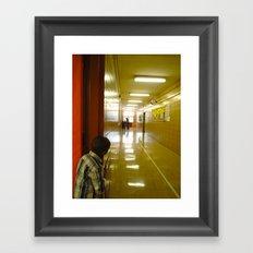 what awaits Framed Art Print