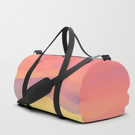 Pastel Gradient Ombre Pink, Purple, Yellow Whimsical Wavy Lines Duffle Bag